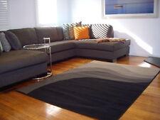 Large Floor Rug Modern Designer Grey Waves Carpet 230 x 160 FREE DELIVERY 6431
