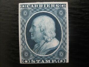 UNITED STATES Sc. #LO1P mint Franklin proof on card Carrier stamp