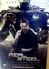 REAL STEEL Original HUGH JACKMAN Rolled Movie POSTER Evangeline Lilly SCI-FI '11