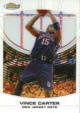 2005-06 Topps Finest WHITE REFRACTOR Vince Carter MASTERPIECE #1/1 NJ Nets