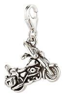 Charm / Anhänger Motorrad mit Karabinerverschluß 925 Sterling Silber
