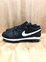 Nike Air Jordan 1 Retro MCS Low Black Baseball Cleats [CJ8524-001] Men's Size 10