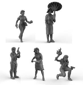 The Heroines Gangster Bang 2 Cthulhu 28mm 32mm