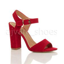 Scarpe da donna blocchetti rosso casual