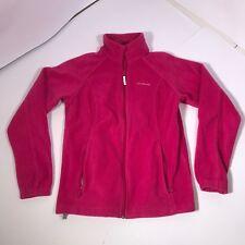Women's Large Pink Full Zip Columbia Sportswear Fleece Jacket NICE EUC [FD10]