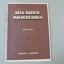 piano BELA BARTOK Mikrokosmos Vol 4 , Boosey & Hawkes