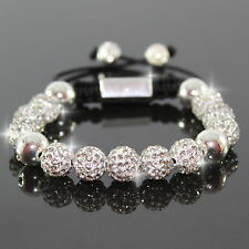 Damen Silber Armband Armreif  Shamballa Armbänder Armschmuck Bracelet Zirkon