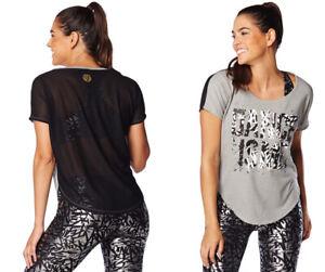 Zumba Dance Is Tulip Top Tee Shirt - Thunderin Gray & Black ~ sz XS, XXL