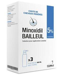 BAILLEUL 5% Spray Hair Loss Regrowth Treatment For Men 3 Months Supply 3x 60ml