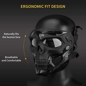 Airsoft Mask Tactical Paintball Skull Mask Eye Protective Gear Full Face Mask