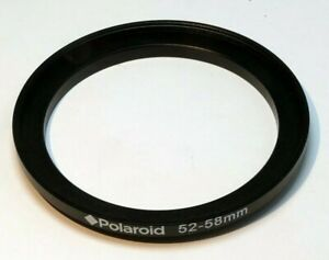 Polaroid 52mm to 58mm Step-up ring Metal adapter double threaded for lens filter