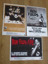 Ben Folds Five - Scottish tour Glasgow live music concert show gig posters x 3