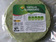 Mexican GREEN Corn TORTILLAS 15cm Ziplock (12 Pack) GLUTEN-FREE 340g BBD 12/2017
