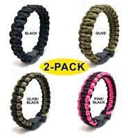 Paracord Survival Bracelet Cobra Weave Paracord Bracelet Men and Women USA A32