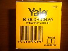 Yale P89 Chrome deadlocking nightlatch rim cylinder lock P-89-CH-CH-60