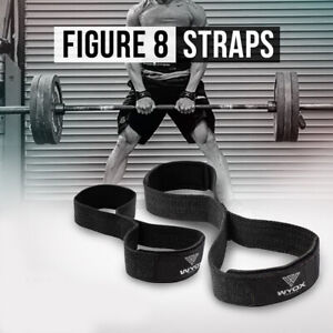 Weight Lifting Bar Strap Wrist Support Gym Training Fitness Bodybuilding NEW