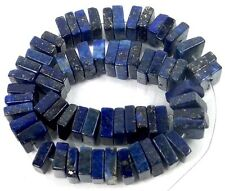 8x3mm natural Indigo Lapis Lazuli Square Rondelle Heishi Beads 7""