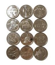 1999 Canada Millenium 25 cent Quarters - Complete UNC Set of 12 Coins Jan - Dec