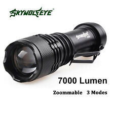 Real Super Bright 7000LM CREE Q5 AA/14500 Flashlight 3 Modes Zoom LED Torch Lamp