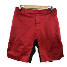 Mens Mma Martial Arts Kickboxing Shorts Size 34-36 Red Black