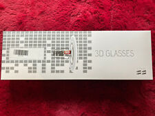 3D Glasses 4 Pairs for 3d TV clear. black frame 3D FPR Glasses - New (box open)