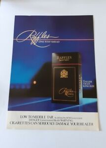 Original Advert for Raffles Cigarettes from 1985