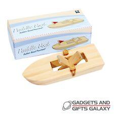 Rubber band powered bateau en bois 15cm rétro jouet de bain cadeau enfant kids nouveauté