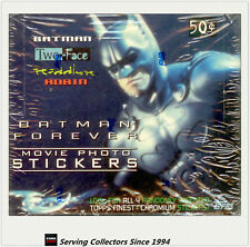 1995 Batman Forever Movie Photo Stickers Card Factory Box x 4 boxes (36 pks x4)