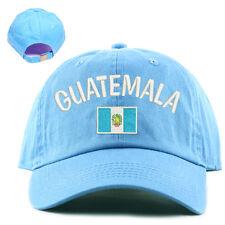 National Guatemala Flag Hat 100% Cotton Sky blue skyblue Baby Blue Baseball Cap