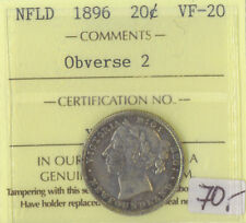 NFLD 1896 20 Cents ICCS Certified VF-20 XXO 035 Obverse 2