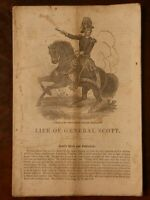 Life of Winfield Scott 1850c. Original Antique Rare Early American Pamphlet
