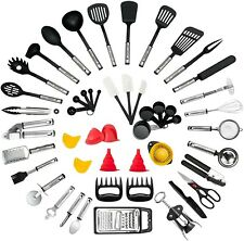 New ListingSet 50 Piece Cooking Utensils, Nylon and Stainless Steel Utensil set Non Stick