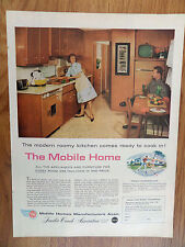 1960 Trailer Coach Mobile Home Manufacturers Ad  The Mobil Home Kitchen Theme