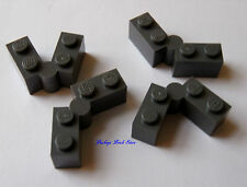 NEW Lego Dark Bluish GRAY HINGED BRICKS Swivel 4/Sets 76052 8877 10240 10193