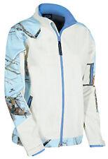 Women's Mossy Oak Camo Soft Shell Jacket Windproof, Water resistant Large