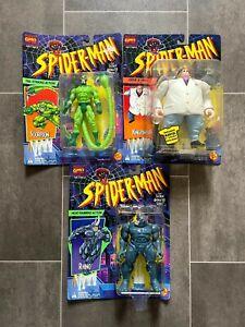 MARVEL SPIDER-MAN ANIMATED SERIES RHINO KINGPIN & SCORPION FIGURE COLLECTION