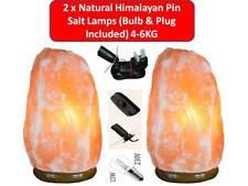 2xNatural Himalayan Pink Rock Salt lamp (Bulb & UK Plug Included) 4-6Kg