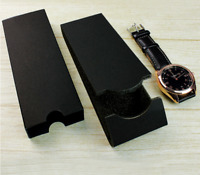 New simple design watch box lot packaging gift cardborad folding watch boxXmas