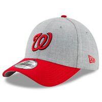 Washington Nationals Hat New Era 39Thirty 3930 Baseball Gray Cap Flex Fit M/L