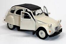 Citroen 2CV Ente Modellauto 1:34  WELLY Metall Spritzguss ca. 12cm beige/geschl.