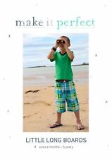 PATTERN - Make it Perfect - Little Long Board Shorts - 6 months to 5 years