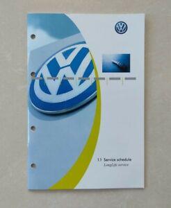 💯ORGINAL New VW VOLKSWAGEN SERVICE BOOK ALL MODELS GOLF POLO PASSAT TRANSPORTER