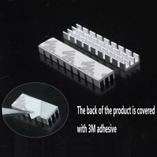 New High Quality 10pcs 50x11x5mm adhesive Aluminum Heat Sink For Memory Chip IC