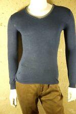 LITTLE ELEVEN PARIS Garçon 14 ans superbe pull pullover bleu et gris coton mélan