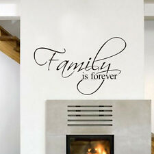 'Family is Forever' Vinyl Decal DIY Art Mural Home Quote Wall Sticker Decor
