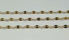 14k yellow gold 2.5 mm mirror link chain 18 inches