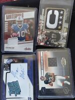 LOT Rookie Auto Serial relic Richard Seymour Mellette Singletary Lee Evans FS