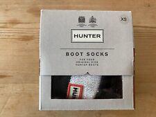 Hunter Bota Calcetín Niños UK 4-6 (XS) - Negro/Blanco-apenas usados, si en absoluto.