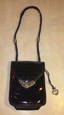 Brighton Black Purse Patent Silver Heart Gold Leather Small Shoulder Bag 550930
