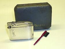 "Ronson ""Adonis"" lighter w. 935 Silver case-pat. 621570-Embalaje original - 1950-Inglaterra"